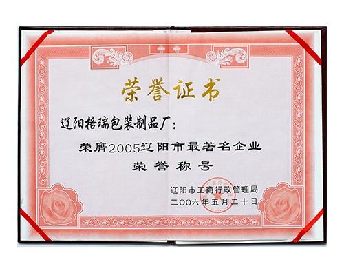 2005辽阳市最著名企业